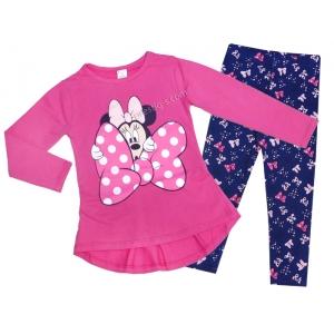 7cd8863d7bf Комплект за момиче, туника с клин в бонбонено розово - Детски Дрехи ...